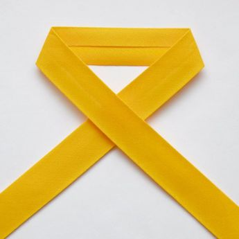 Biais uni - 19 jaune