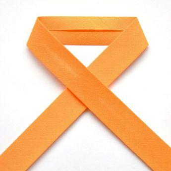 Biais uni - 16 orange clair