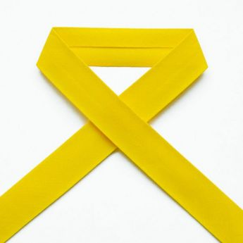 Biais uni - 40 jaune citron