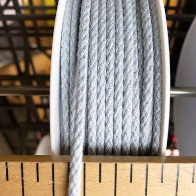 Cordon coton 4mm - gris