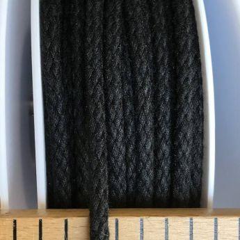 Cordon coton 4mm - noir