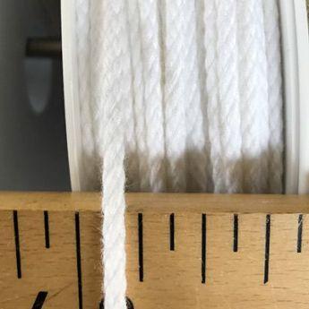 Cordon coton 4mm - blanc
