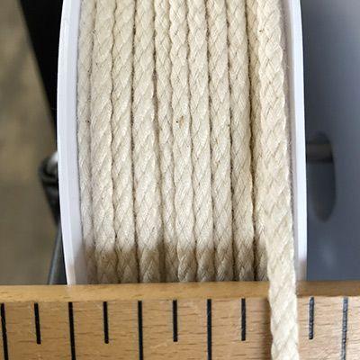 Cordon coton 4mm - écru clair