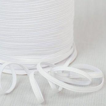 Elastique souple 4mm blanc