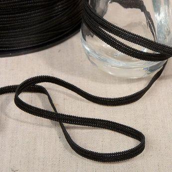 Elastique souple 3mm noir