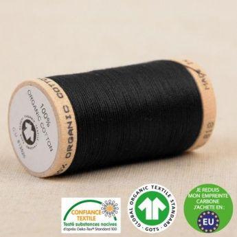 Fil coton bio bobine 275m noir
