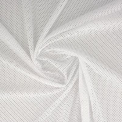 Tissu mesh blanc