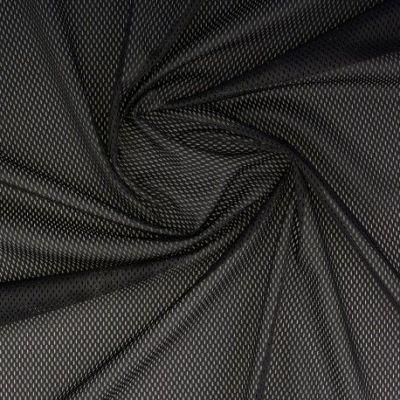 Tissu mesh noir