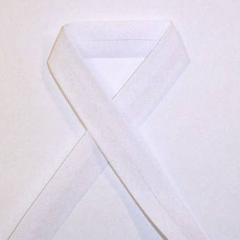 Biais uni - 01 blanc